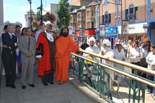 With Mayor outside Ilford Town Hall